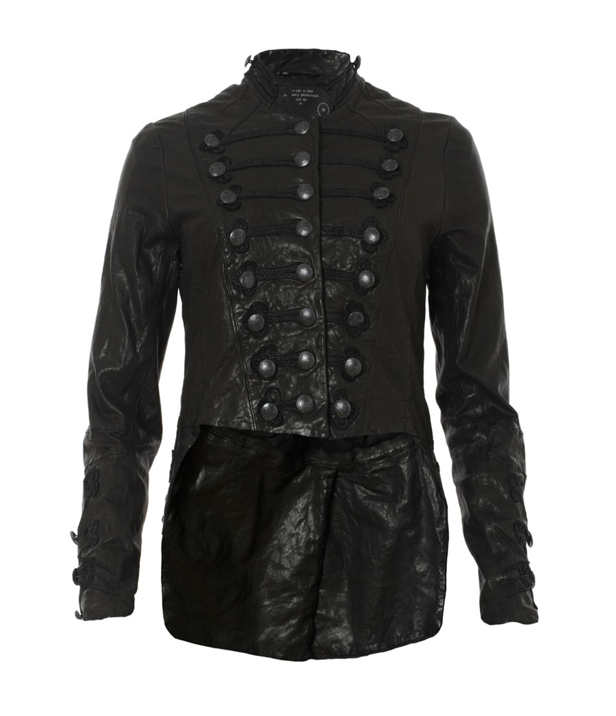 Кожаная куртка military